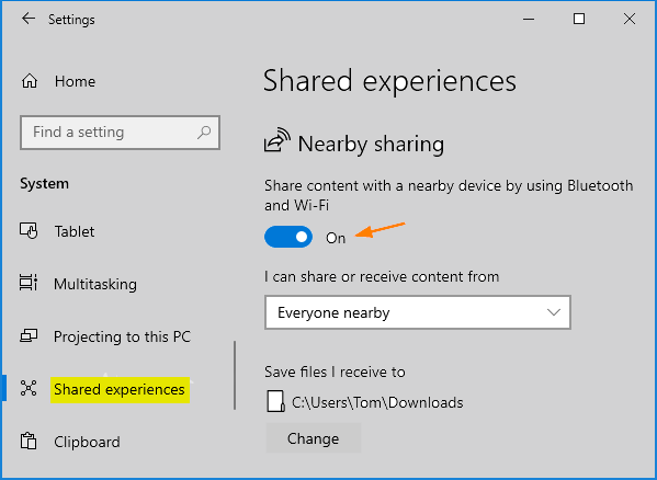 Nearby Sharing Windows 10 Not Working